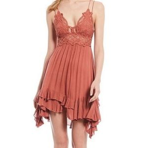 Free people adella coral dress